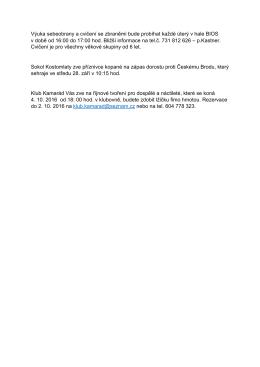 hlášení 26.-27. 9. 2016