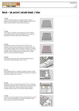 Návod - Jak postavit zahradní domek z fošen