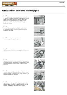 HORNBACH návod- Jak instalovat vodovodní přípojku