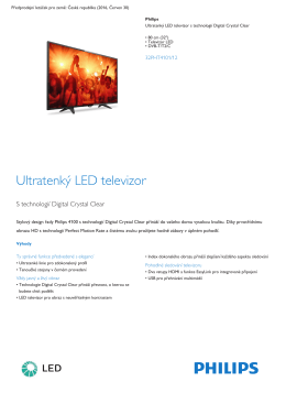 "Product Leaflet: 80cm (32"") ultratenký LED televizor"