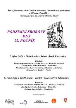 Ženský komorní sbor Cantica Bohemica Litoměřice ve spolupráci s