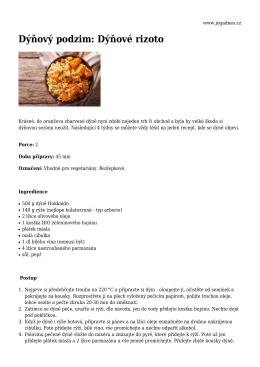 Dýňový podzim: Dýňové rizoto