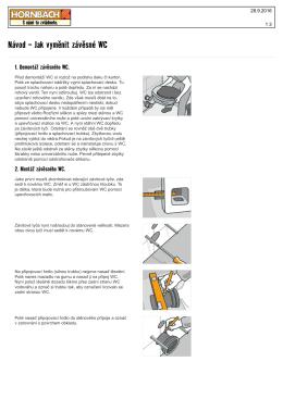Návod - Jak vyměnit závěsné WC