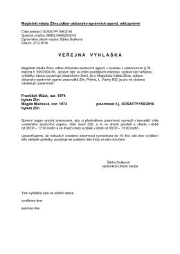 doručení VV_158_2016