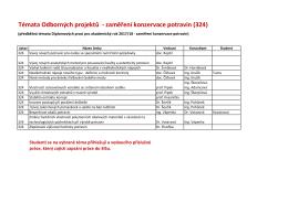 Seznam témat - Ústav konzervace potravin