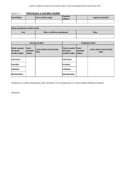 Příloha č. 3 Infomrace o sociální službě