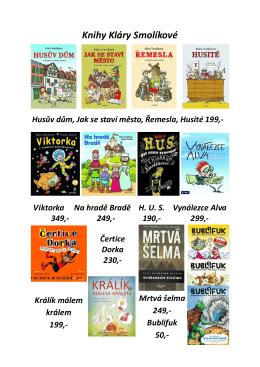 Seznam a ceník knih