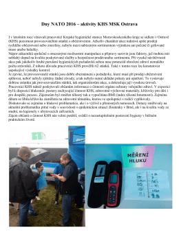 Dny NATO 2016 - Krajská hygienická stanice Moravskoslezského