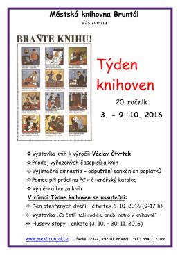 Týden knihoven - Městská knihovna Bruntál