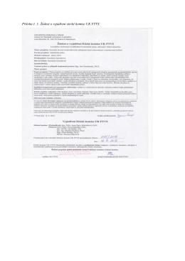 Příloha č. 1: Žádost o vyjádření etické komise UK FTVS