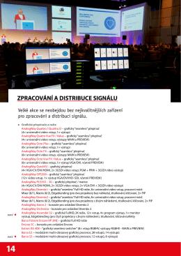 zpracování a distribuce signálu