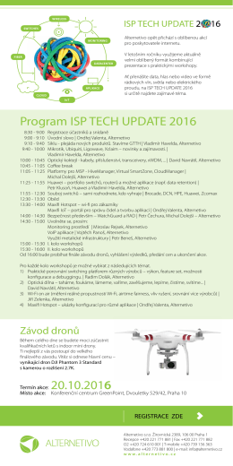 Program ISP TECH UPDATE 2016