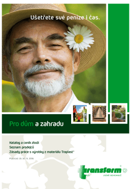 Katalog Transform 2016 - TRANSFORM as Lázně Bohdaneč