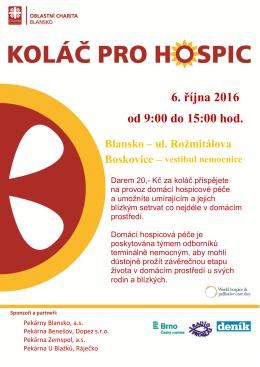Koláč pro hospic 2016 Blansko