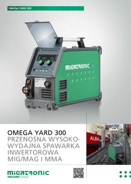 omega yard 300 przenośna wysoko- wydajna spawarka