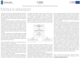 Moduł w edukacji II