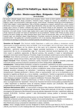 Biuletyn parafialny 25.09.2016