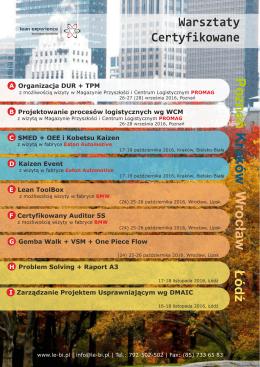 Warsztaty Certyfikowane - Lean Experience Business Institute