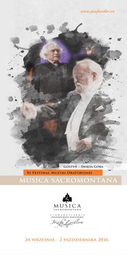 XI Festiwal Muzyki Oratoryjnej MUSICA SACROMONTANA 2016