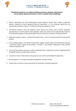 Regulamin - Zielone Bieszczady