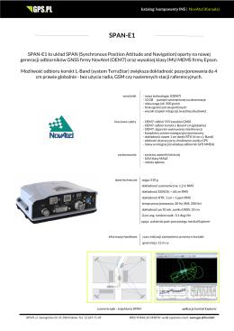 SPAN-E1 - GPS.PL