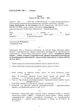 ZAŁĄCZNIK NR 2 - Umowa