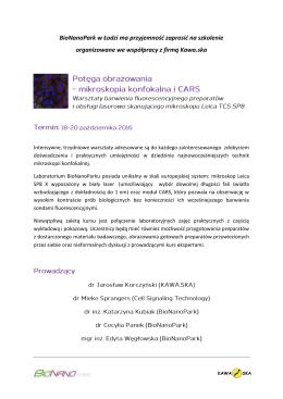 BioNanoPark w Łodzi ma przyjemność zaprosić na - Lab-JOT