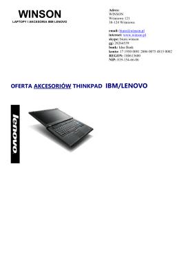 oferta akcesoriów thinkpad ibm/lenovo
