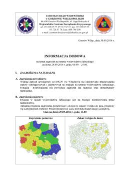 informacja dobowa - Lubuski Urząd Wojewódzki