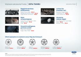 Wybrane akcesoria Forda 20% TANIEJ
