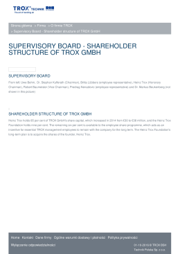 supervisory board - shareholder structure of trox gmbh