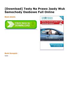 [Download] Testy Na Prawo Jazdy Wuk Samochody