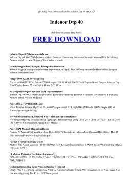 INDENOR DTP 40 - INDEX | ebook PDF