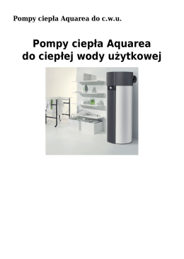 Pompy ciepła Aquarea do ciepłej wody użytkowej