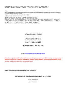 Generuj PDF - Komenda Powiatowa Policji Łódź