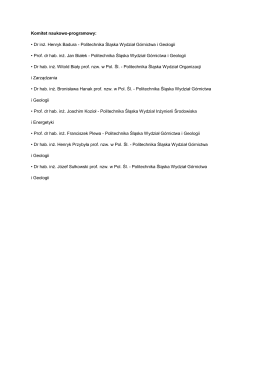 Komitet naukowo-programowy