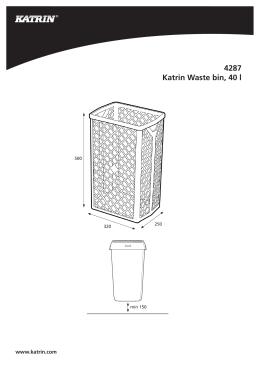 4287 Katrin Waste bin, 40 l