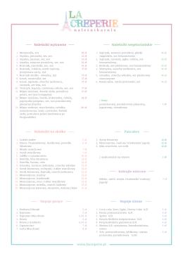 zobacz nasze menu