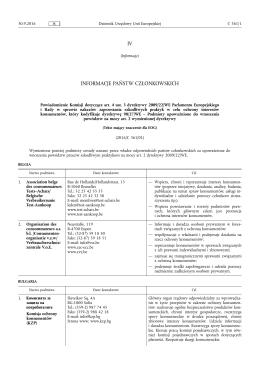 Powiadomienie Komisji dotyczące art. 4 ust. 3 dyrektywy