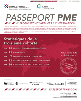 Cahier Passeport PME