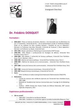 Dr. Frédéric DOSQUET