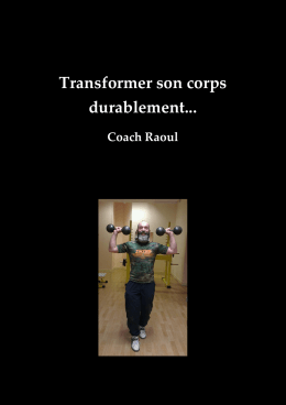 Transformer son corps durablement