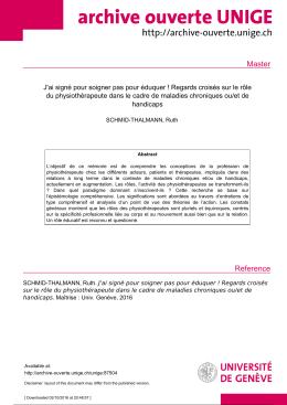 Master - Archive ouverte UNIGE