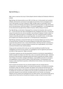 Article du Ottawa Sun, 25 septembre Mgr Scott McCaig, c.c.