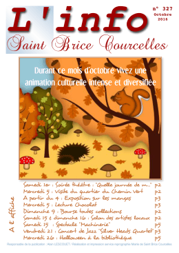 Info - St Brice Courcelles