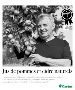 Jus de pommes et cidre naturels