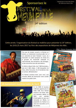 Sponsorisez le - Festival de la Meuh Folle