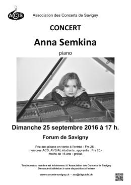 Anna Semkina - Association des Concerts de Savigny