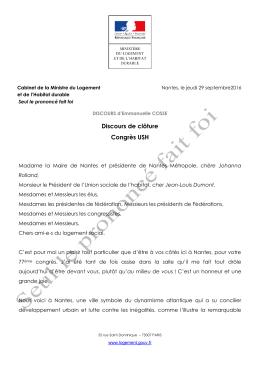Le discours dans son intégralité (PDF- 265.7 ko)