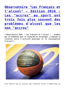 """Observatoire """"Les Français et l`alcool"""""""